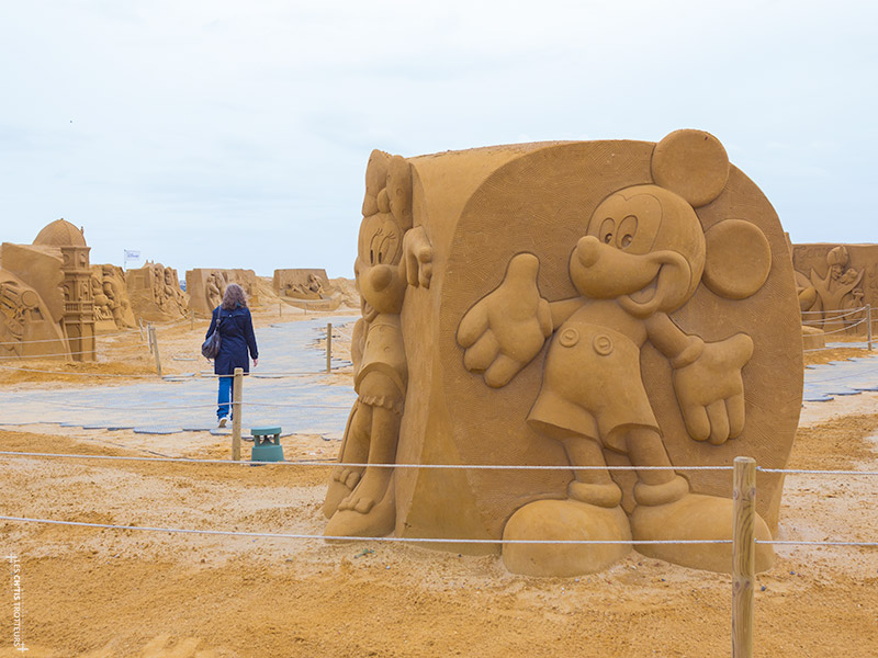 Sculpture de Sable Mickey à Ostende